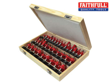 Faithfull  1/2in TCT Router Bit Set, 35 Piece - FAIRBS35