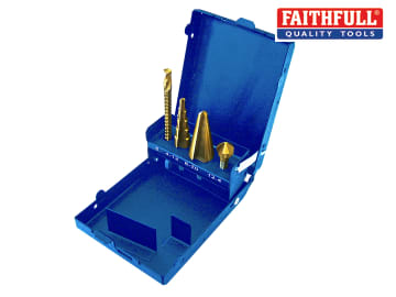 Faithfull Multi Function Cutter Set 1/4in Drive Set of 4 - FAISDMULTI