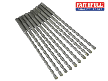 Faithfull SDS Plus Drill Bit 8mm OL: 210mm WL: 150mm Bulk 10 - FAISDS8210B