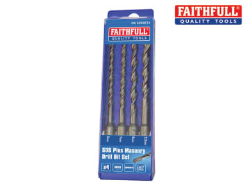 Faithfull  SDS Plus Drill Bit Set, 4 Piece 5.5-8mm - FAISDSSET4