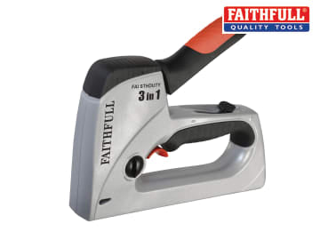 Faithfull Heavy-Duty Triggershot 3-in-1 Tacker/Nailer - FAISTHDUTY