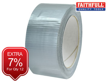 Extra Heavy-Duty Gaffa Tape Silver 50mm x 20m FAITAPEEXTRS