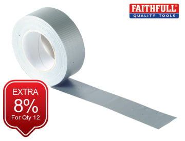 Gaffa Tape 50mm x 50m Silver FAITAPEGAFS