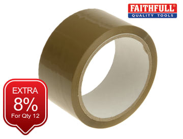 Parcel Tape 48mm x 50m Brown FAITAPEPAR