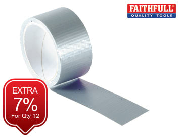 Power Stik Waterproof Tape 50mm x 10m Silver FAITAPEPSS