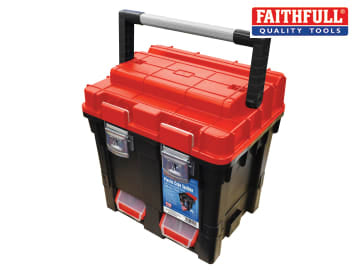 Faithfull Plastic Cube Toolbox - 2 Trays 44cm (17in) Deep - FAITB17