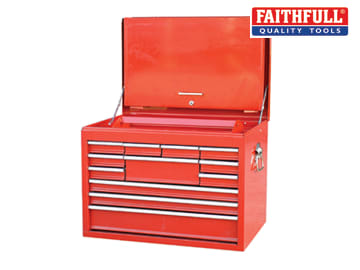 Faithfull Toolbox Top Chest Cabinet 12 Drawer - FAITBCAB12