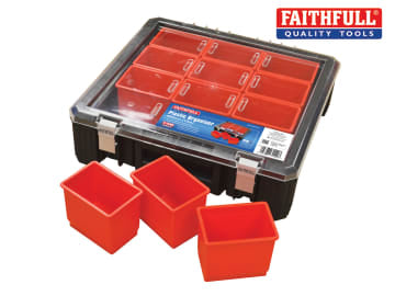 Faithfull Plastic Organiser 12 Tray 15in - FAITBORG15
