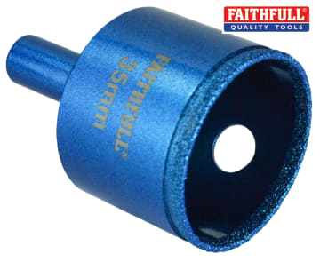 Faithfull Diamond Ceramic Mini Holesaw 35mm - FAITD35PRO