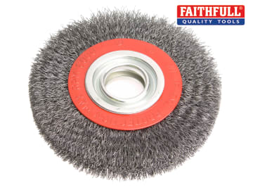Faithfull Wire Wheel 200 x 25mm, 32mm Bore, 0.30mm Wire - FAIWBWW200