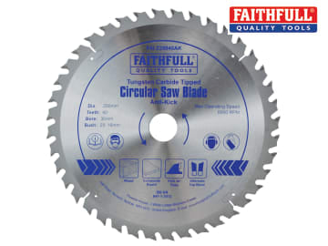 Circular Saw Blade Anti Kick 250 x 30mm x 40T FAIZ25040AK