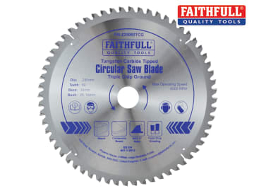 TCT Circular Saw Blade Triple Chip Ground 250 x 30mm x 60T NEG FAIZ25060TCG