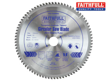TCT Circular Saw Blade Zero Degree 250 x 30mm x 80T FAIZ25080Z