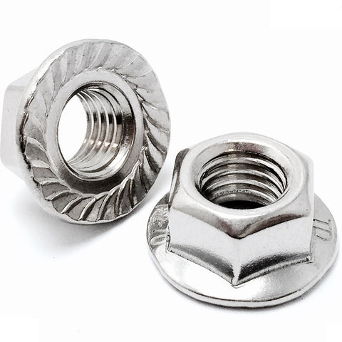 Hexagon Serrated Flange Nut Stainless Steel, A4 (316), Marine Grdade, DIN 6923