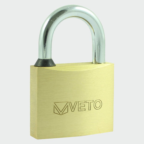 Brass Padlock - Long Shackle 50mm