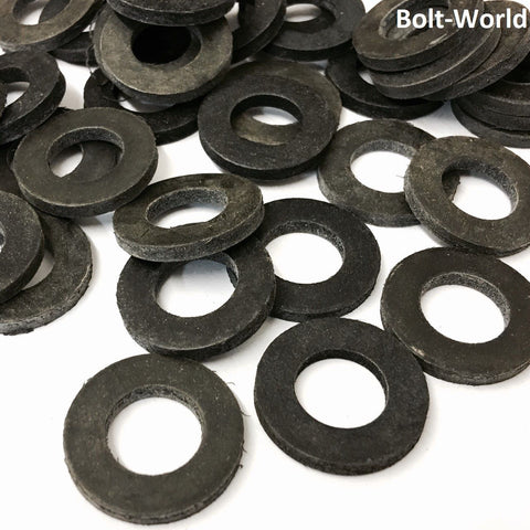 M6 Form A Neoprene Black Rubber Washer (12.7mm x 1.6mm)