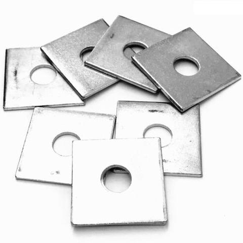 M16 Mild Steel Square Plate Washer Bright Zinc Plated, DIN 436
