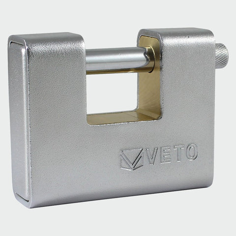 Steel Armoured Brass Padlock 90mm