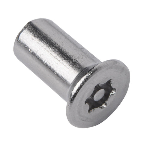 M8 x 20 Resistorx Countersunk Head 6 Lobe Pin Barrel Nut, TX-40H