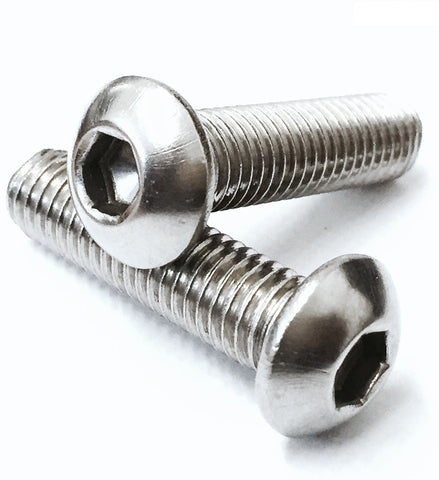 M12 A2 Stainless Steel, Socket Button / Dome Head, Allen Screws Bolts ISO 7380
