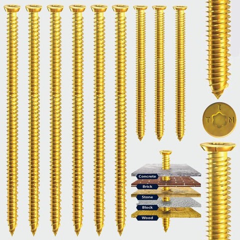 7.5 x 150 Multi-Fix Concrete Screw -Zinc Yellow Passivated