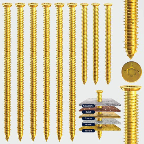 7.5 x 110 Multi-Fix Concrete Screw -Zinc Yellow Passivated