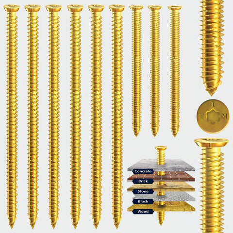 7.5 x 40 Multi-Fix Concrete Screw -Zinc Yellow Passivated