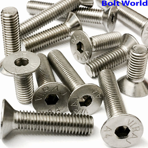 M6 Socket Countersunk Screws, Stainless Steel A4 (316), Marine Grade, DIN 7991