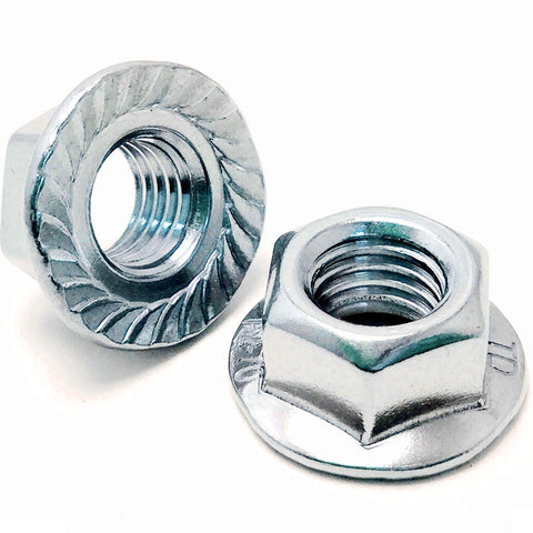 Hex Serrated Flange Nut Zinc Plated BZP