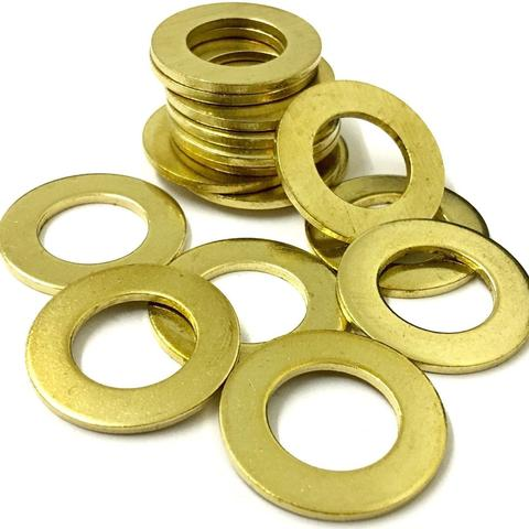 M6 Form A Solid Brass Self Colour Flat Washers DIN 125A