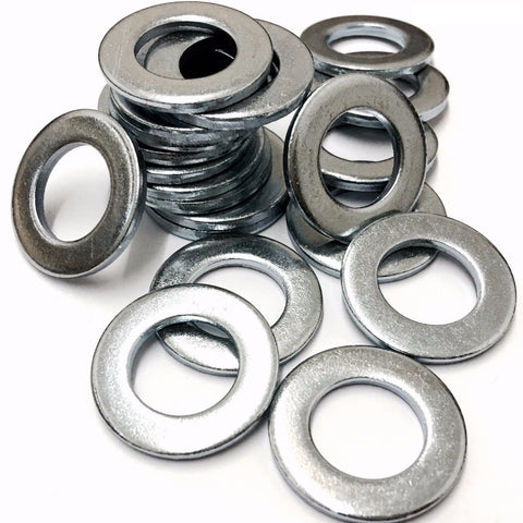 M2 Mild Steel Form A Flat Washer Bright Zinc Plated DIN 125 - 1A (2x5x0.3mm)