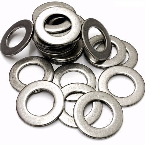 M8 Form B Flat Washer, Stainless Steel A2 (304) (8.4x17x1mm) DIN 125