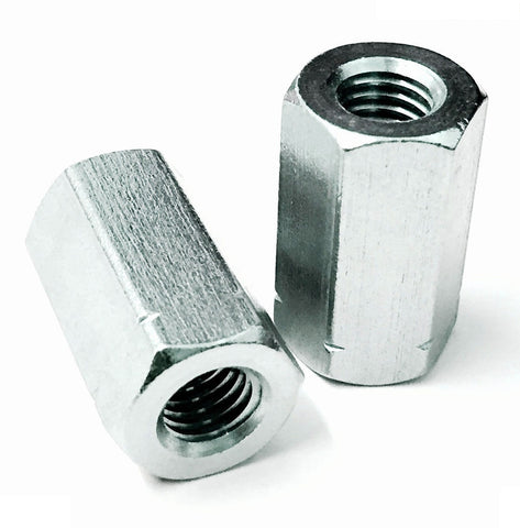 Studding Hex Connectors Nuts, Bright Zinc Plated, BZP DIN 6334
