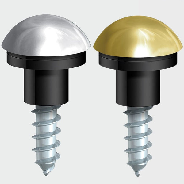 Mirror Screws Brass Chrome Dome Head With Rubber