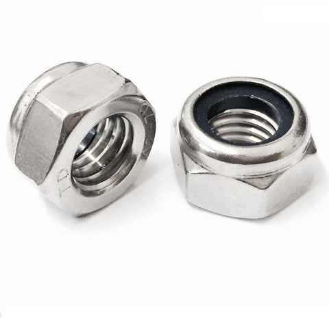 UNC Nyloc Nuts, A2 STAINLESS STEEL (304)