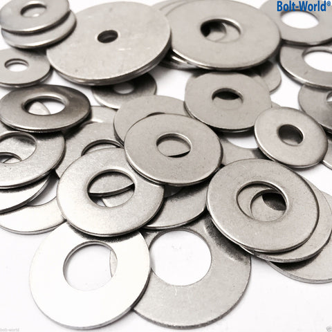M5 x 25mm PENNY MUDGUARD REPAIR WASHERS BRIGHT ZINC PLATED DIN 9021