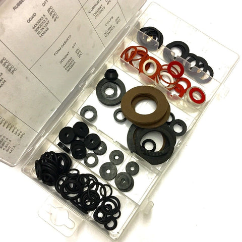 125 PIECES O-RING WASHER ASSORTMENT DIY DRIPPING LEAKY WATER RUBBER TAP SEAL