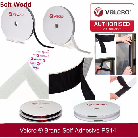 VELCRO® PS14 SELF ADHESIVE STICK ON FASTENER TAPE HOOK & LOOP STICKY BACK STRIPS