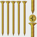 5.0mm(10g) Timco Countersunk Pozi No.2 Classic Woodscrew, Steel Zinc / Yellow Plated