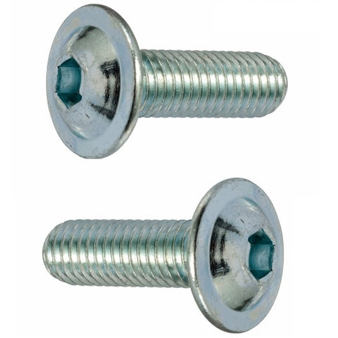 M6 Flange Button Socket Screw, High Tensile Grade 10.9 Bright Zinc Plated, DIN 267