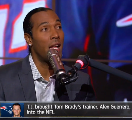 T.J. HOUSHMANDZADEH EXPLAINS HIS RELATIONSHIP WITH TOM BRADY'S TRAINER, ALEX GUERRERO