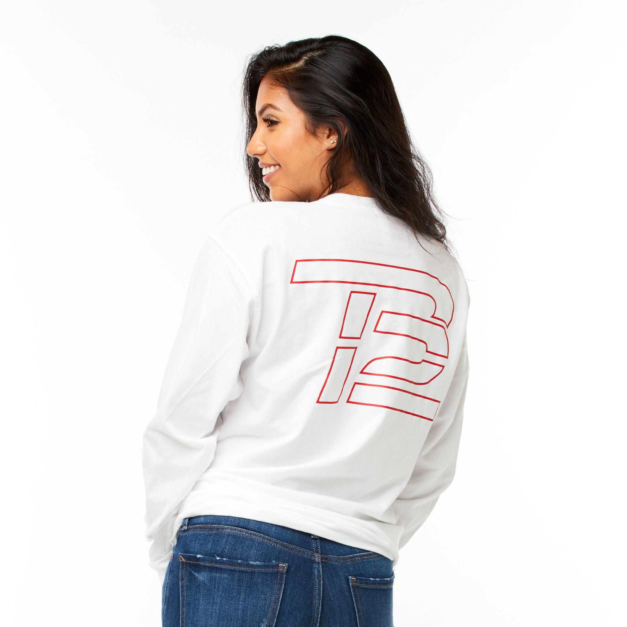 White TB12™ Keep Going Long-Sleeve Shirt