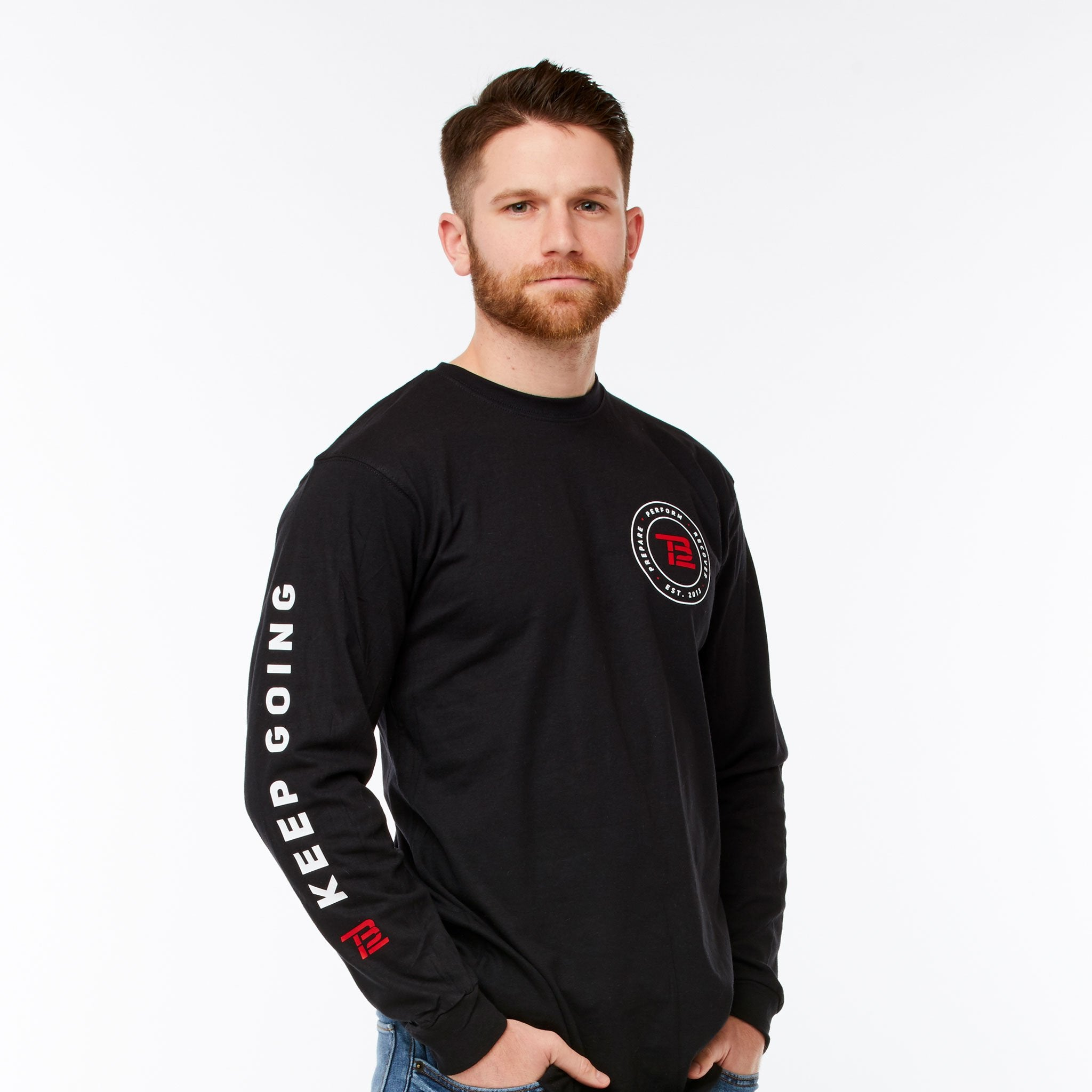 Black TB12™ Keep Going Long-Sleeve Shirt