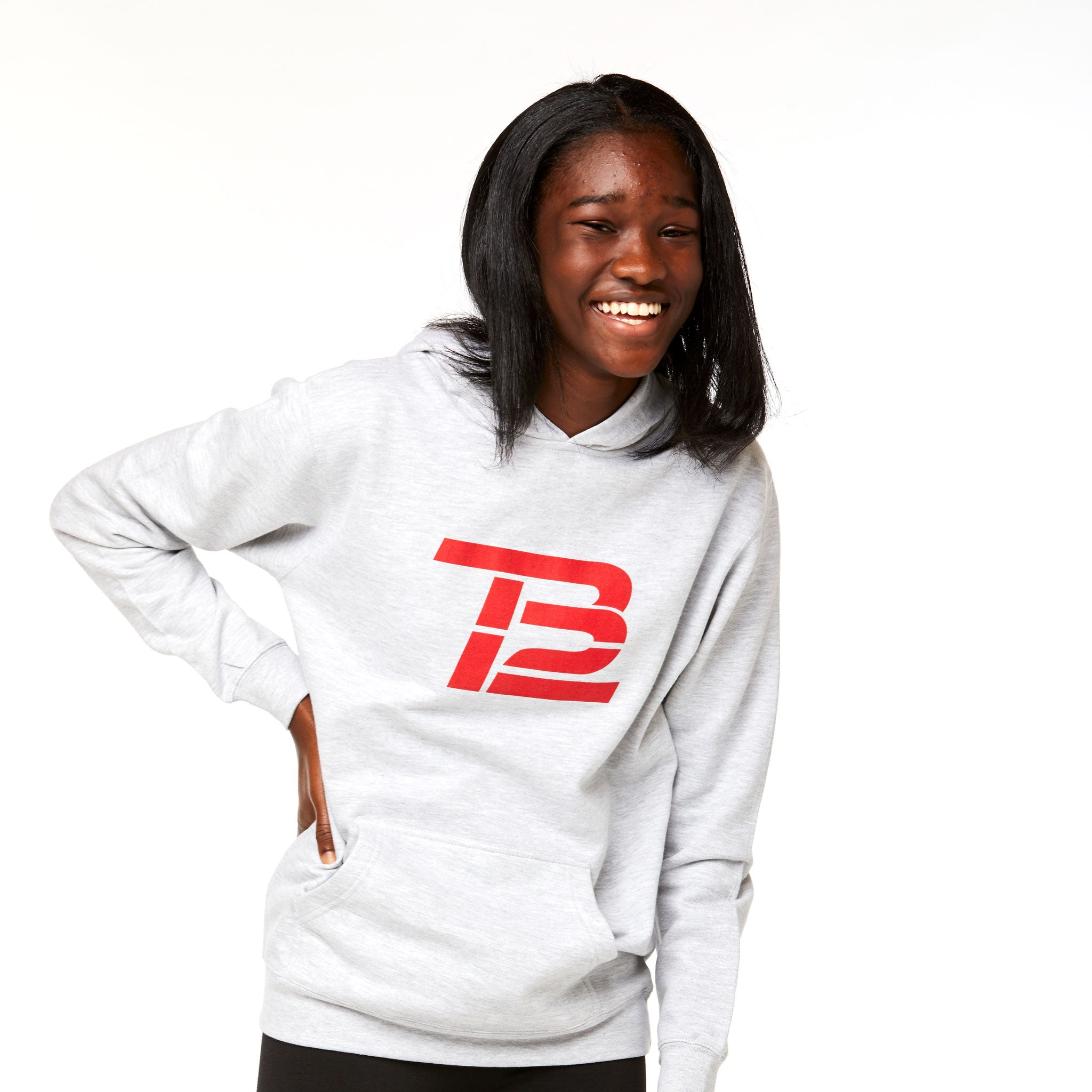TB12™ Youth Hoodie Gray