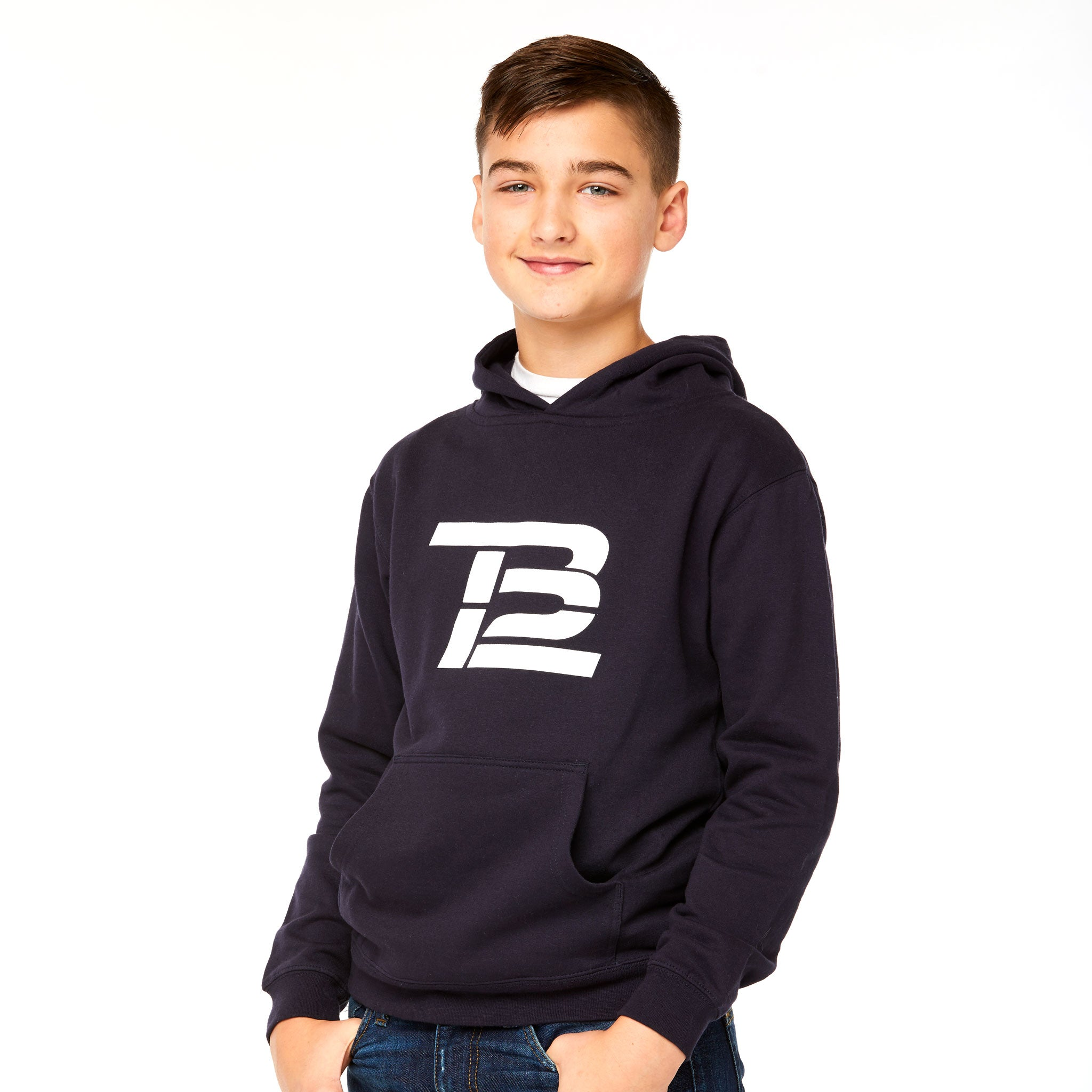 TB12™ Youth Hoodie Navy