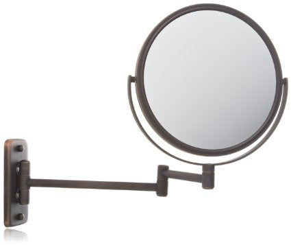 JP7506BZ Bronze Finish 8-Inch Wall Mount Makeup Mirror with 5x Magnification  from Jerdon