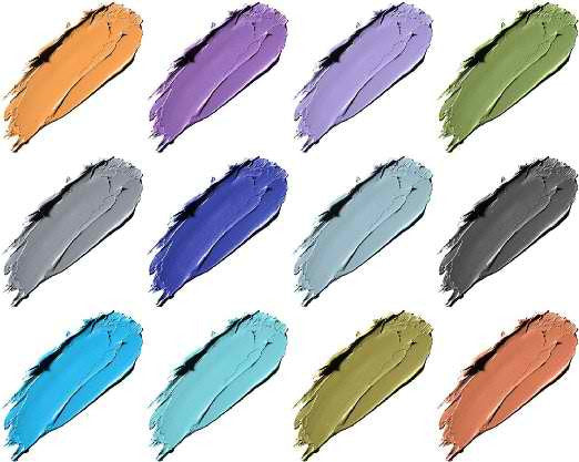 12 Count,SHANY Cosmetics SHANY Masquerade Eyeliner Gel Color Smudge Proof Set