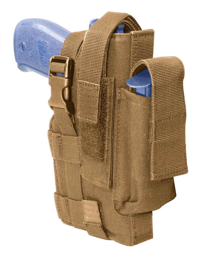 Tactical Belt Holster, Right Hand, Coyote Tan