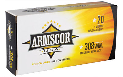 ARMSCOR 308WIN 147GR FMJ 20/200