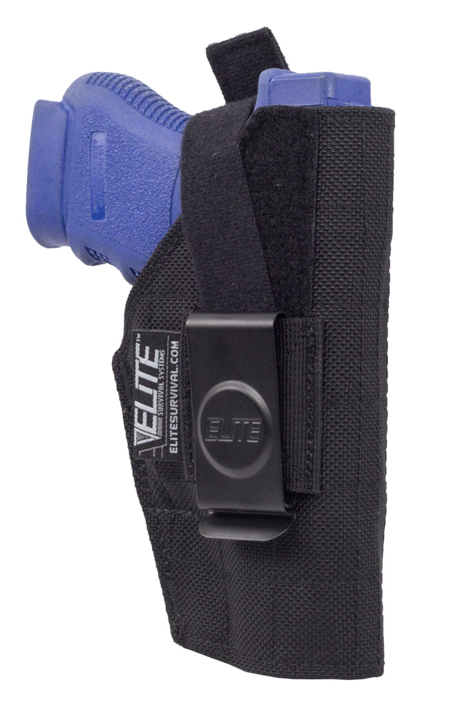 Inside the Pant Clip Holster, IWB, Fits compact Glock, Sig Sauer, Beretta, Taurus and similar with Light/Laser
